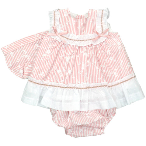BABYFERR - Stripey Dress & bonnet set - Arabella's Baby Boutique