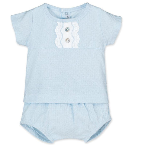 Calamaro - Baby Blue Boys Short Set - Arabella's Baby Boutique