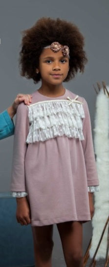 Noa Pink & Ivory Dress - Arabella's Baby Boutique