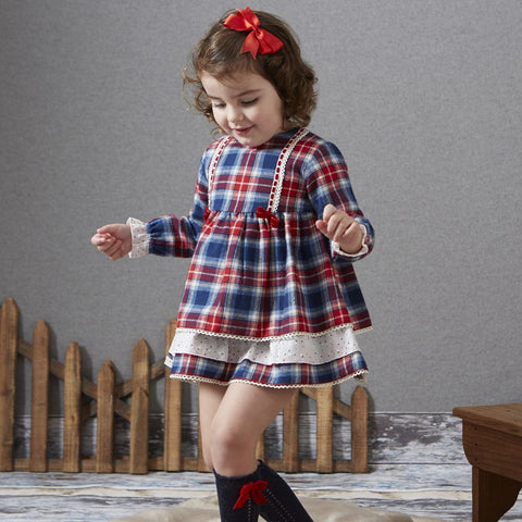 Granlei Girls Tartan Dress - Arabella's Baby Boutique