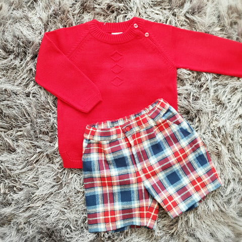 Granlei Knitted Winter Short Set - Arabella's Baby Boutique
