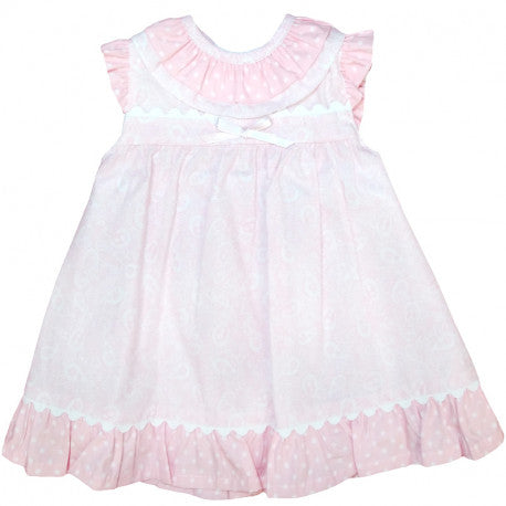 BABYFERR - Pink 'Ana' Dress with Frill Neck - Arabella's Baby Boutique