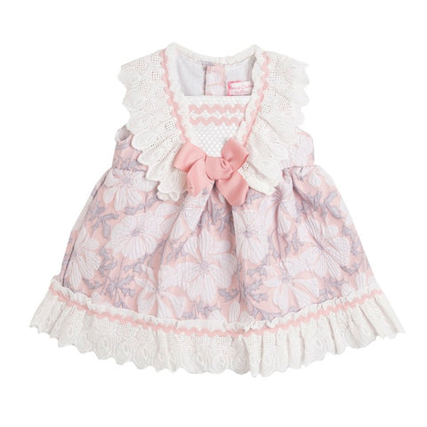 Newness Floral Pink Baby Dress Set - Arabella's Baby Boutique