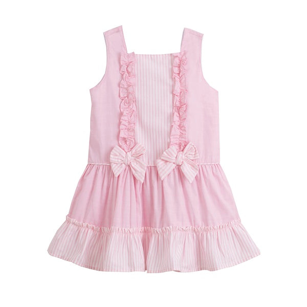 'Amy' Pink Cotton Dress - Arabella's Baby Boutique