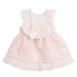 'Carlotta' Baby Dress, Pink and Ivory - Arabella's Baby Boutique