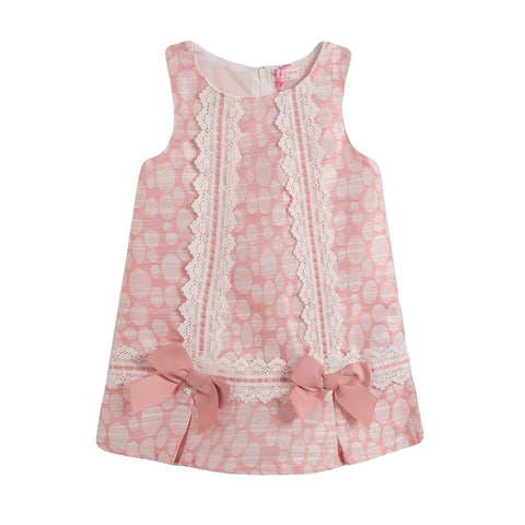 Newness Pink Circles Girl's Dress - Arabella's Baby Boutique