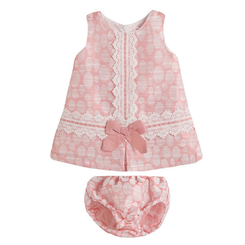Newness Pink Circles Baby Girl's Dress - Arabella's Baby Boutique