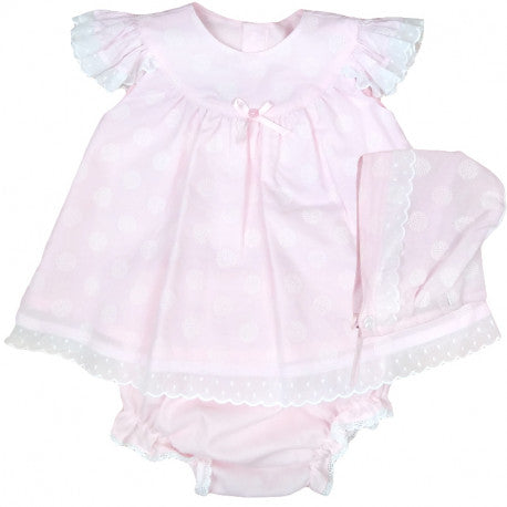 BABYFERR - 'Amelie' Three piece dress set with Bonnet - Arabella's Baby Boutique