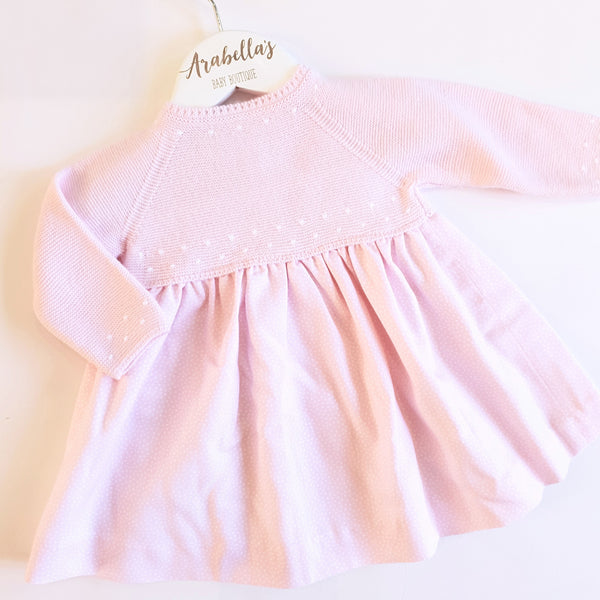 Granlei Baby Girls Knitted Dress Pink - Arabella's Baby Boutique