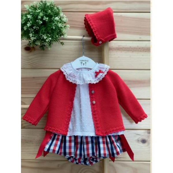 'Ruby' Baby Girl's Knitted Set - Arabella's Baby Boutique