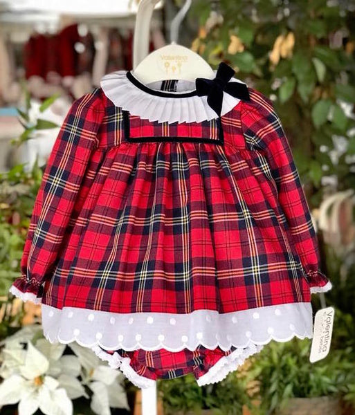 Valentina Bebes Red Tartan Dress Set - Arabella's Baby Boutique