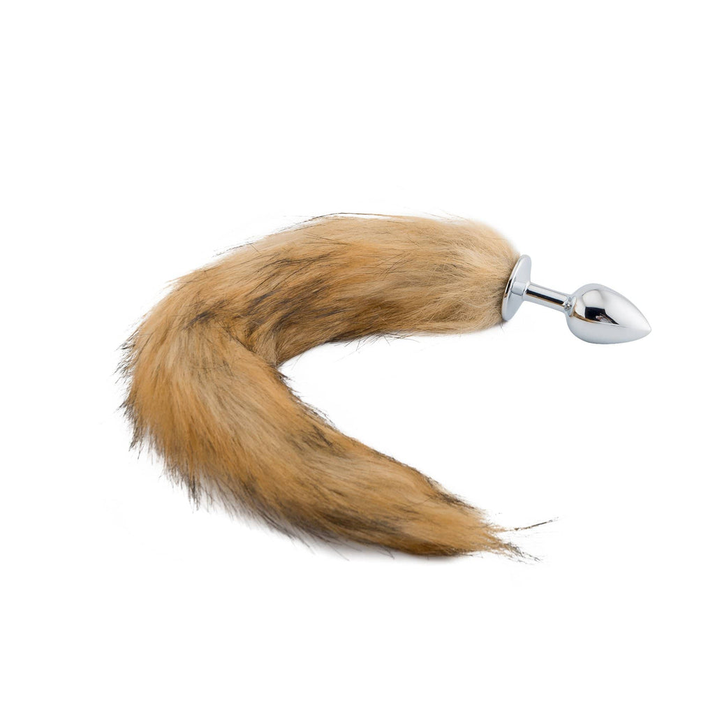 "15"" Tail Multi Color Fox Stainless steel plug"
