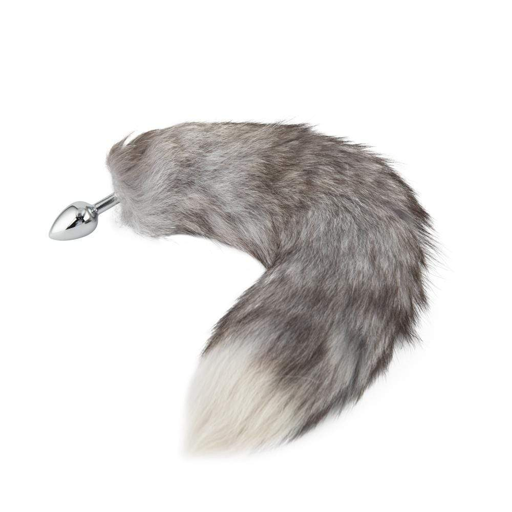 "16"" Gray Fox Tail Metal"