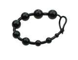 "3 Colors 12"" Soft Rubber Anal Beads with Pull Ring Ball"