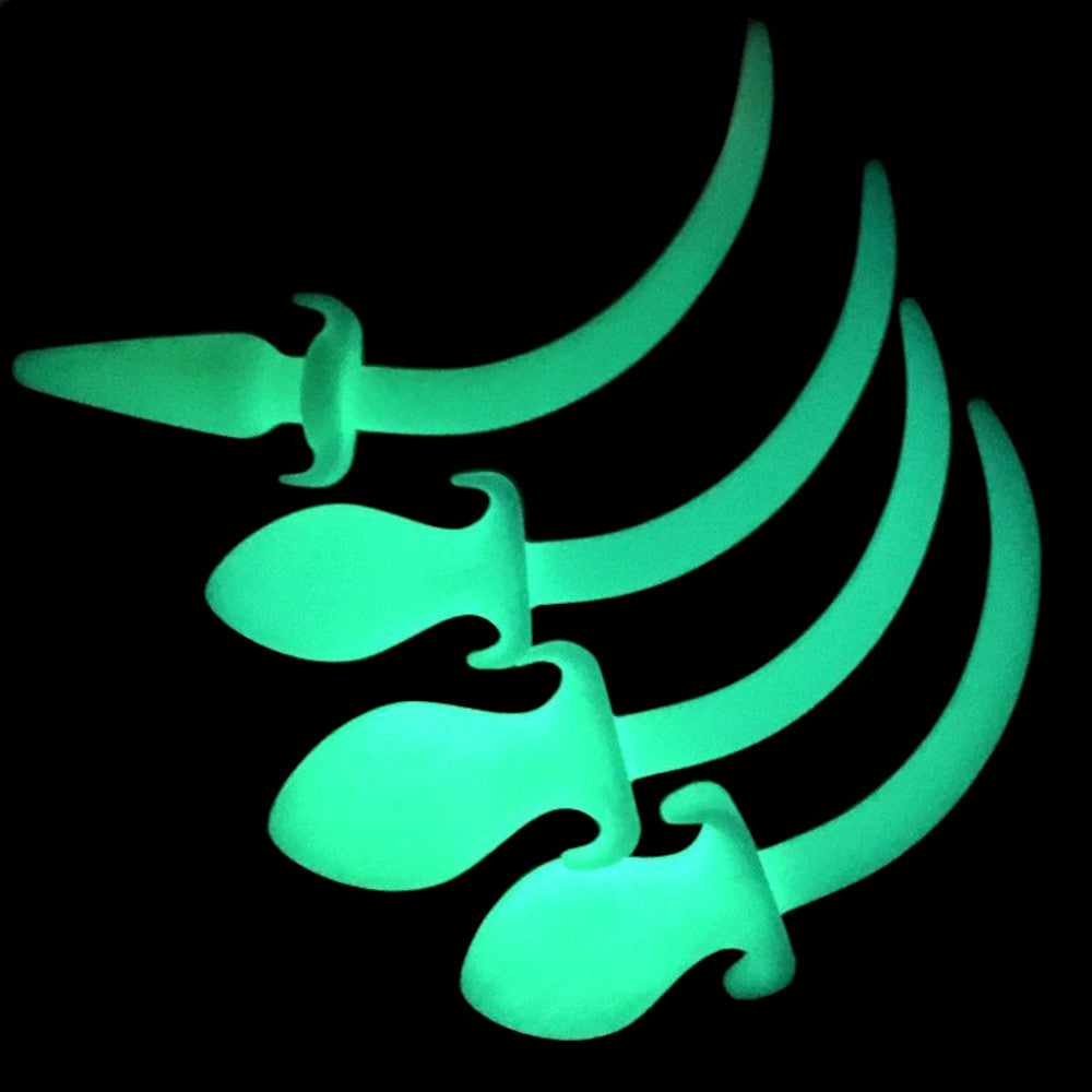 "8"" Dog Tail Glow in the Dark Silicone Plug"