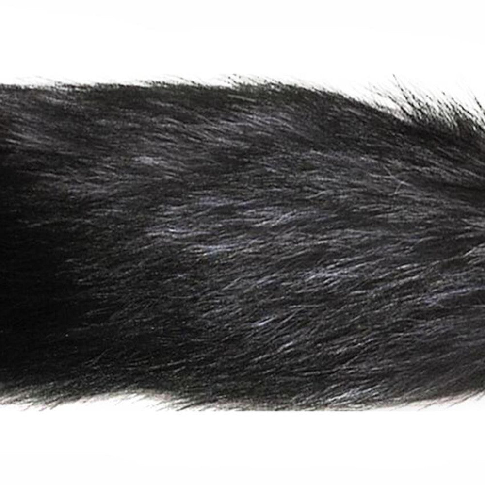 "16"" Black Fox Tail Silicone Plug"