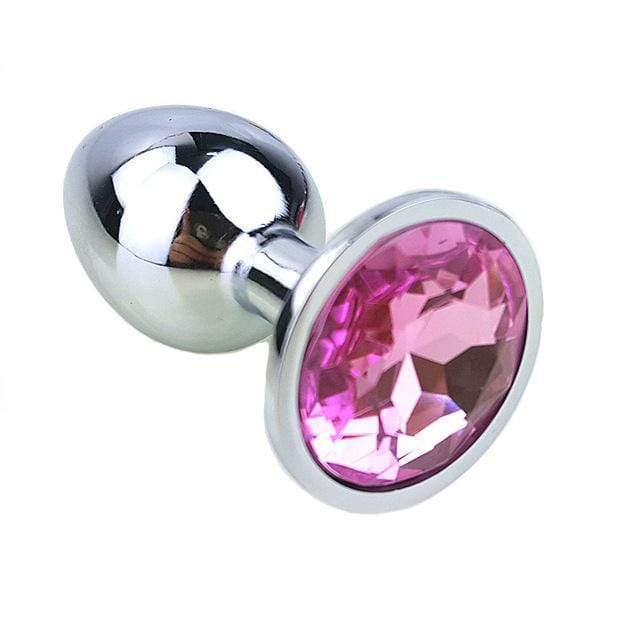 "9 Colors Jeweled 3"" Metal Princess Plug"