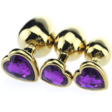 "12 Colors 3"" Heart-shaped Jewelry Princess Plug"