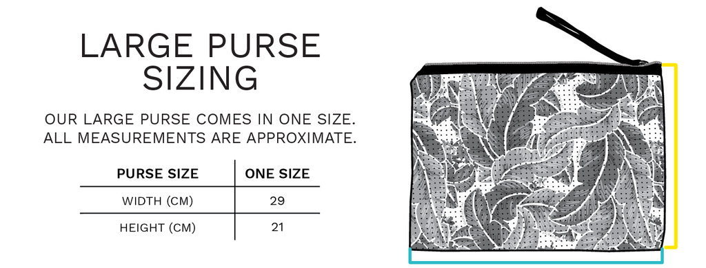 Chuckles & Caz - Large Neoprene Purse Sizing