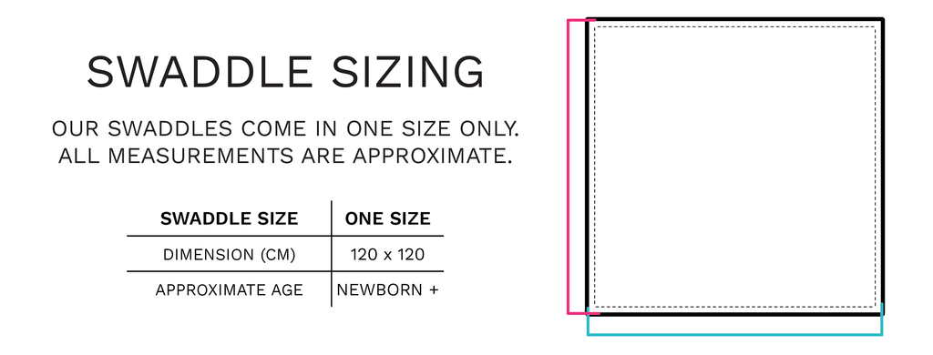 Swaddle Sizing - Chuckles &Caz