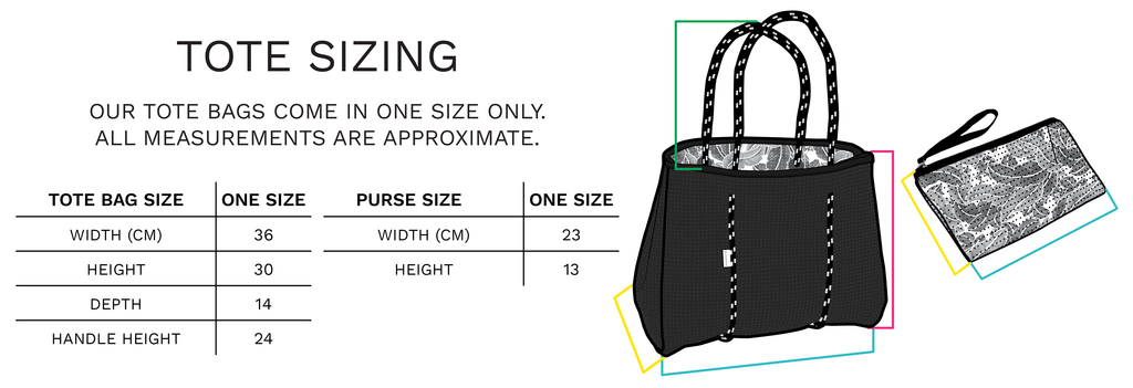 Chuckles & Caz - Reversible Tote Bag Sizing