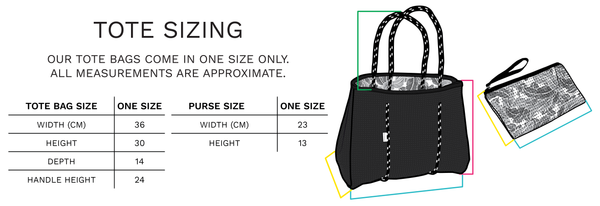 Tote Bag Sizing - Chuckles & Caz