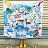 Australian Map Muslin Swaddle - Chuckles & Caz