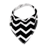 Black Chevron Dribble Bib - Chuckles & Caz