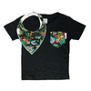 Jungle Print Pocket Tee & matching Dribble Bib - Gift Set - Chuckles & Caz