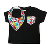 Little Monster Print Pocket Tee & matching Dribble Bib - Gift Set
