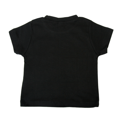 Black Tee with Little Monster Pocket & matching bib - Gift Set - Chuckles & Caz