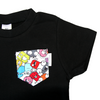 Black Tee with Little Monsters Pocket - Chuckles & Caz