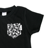 Black Tee with Mono Skullz Pocket & matching bib - Gift Set - Chuckles & Caz