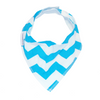Blue Chevron Dribble Bib - Chuckles & Caz