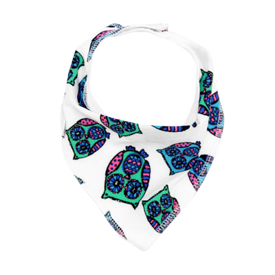 Blue Owls Dribble Bib - Chuckles & Caz
