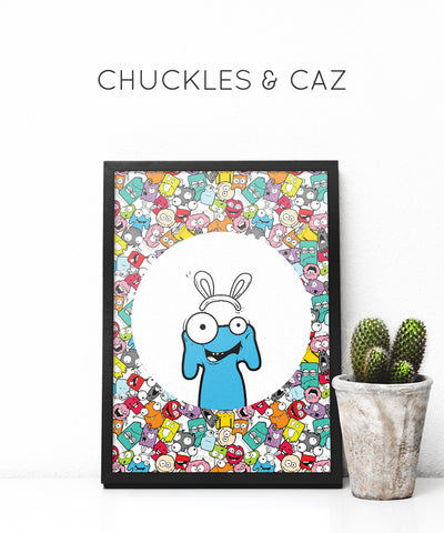 Little Monster Vicky Digital Artwork - Chuckles & Caz