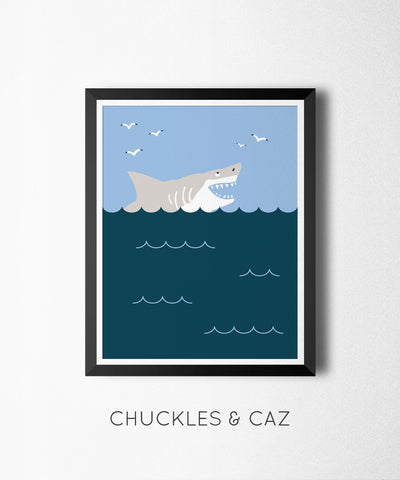 Bitey Shark Digital Artwork - Chuckles & Caz