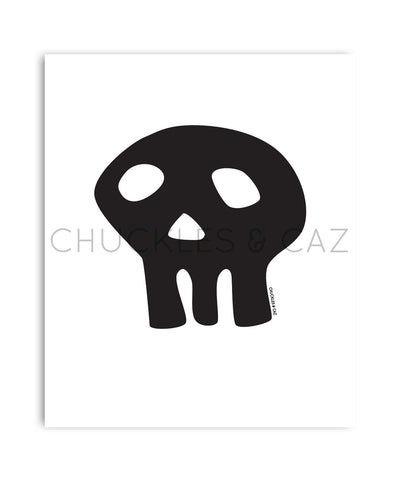 Black Skull Digital Artwork - Chuckles & Caz