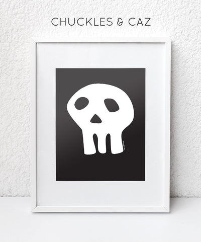 White Skull Digital Artwork - Chuckles & Caz