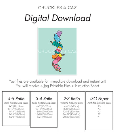 Aqua Stack Ice Blocks Digital Artwork - Chuckles & Caz