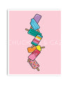 Pink Stack Ice Blocks Digital Artwork - Chuckles & Caz