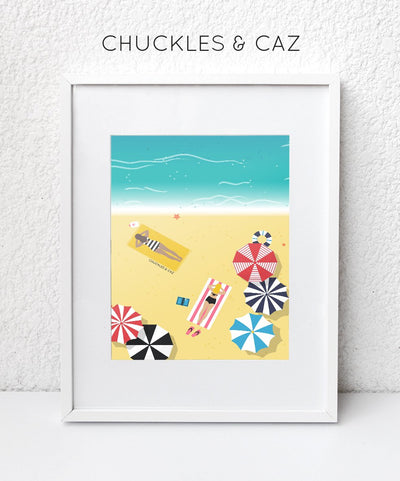 Beach Life Digital Artwork - Chuckles & Caz