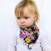 Dark Watercolour Floral Dribble Bib & Baby Booties - Gift Set - Chuckles & Caz
