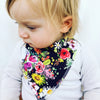 Dark Watercolour Flower Dribble Bib - Chuckles & Caz