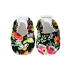 Dark Watercolour Flower Baby Booties - Chuckles & Caz