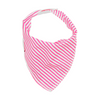 Fluro Pink Mini Stripe Dribble Bib - Chuckles & Caz