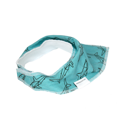 Geo Shark Dribble Bib - Chuckles & Caz