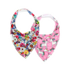 Girls Dribble Bib 2pk - Gift Set 2 - Chuckles & Caz