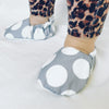 Grey Spot Baby Booties - Chuckles & Caz