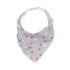 Grey Triangles Dribble Bib - Chuckles & Caz
